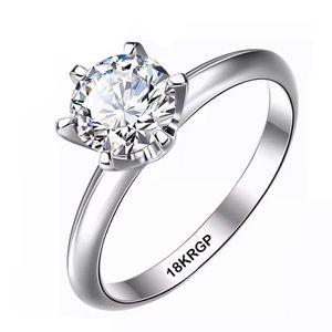 🎀New Size 8 Lab Diamond Wedding Gift Silver Ring